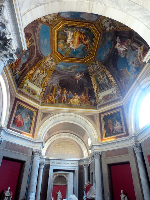 Ceiling fresco inside the Vatican, Rome, Italy