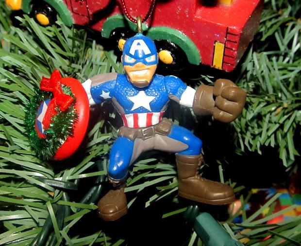 Homemade Super Hero Christmas Ornaments
