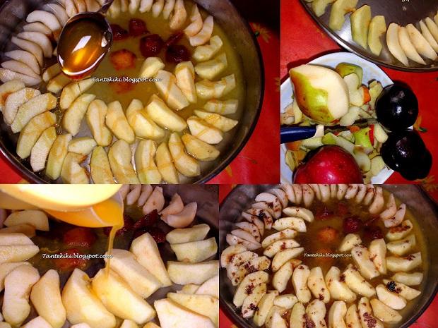 Χαλβάς σιμιγδαλένιος με γάλα αμυγδάλου και φρούτα