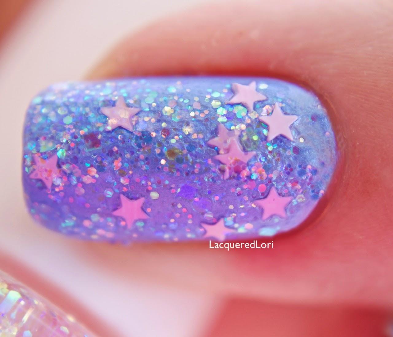 Cotton Candy Glitter Nails: Glitter Lambs- Nail Polish, DIY, Beauty, Makeup And