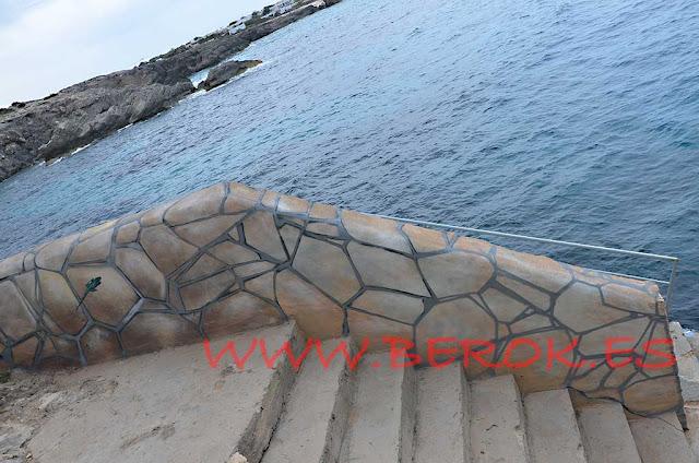 graffiti imitación de piedra