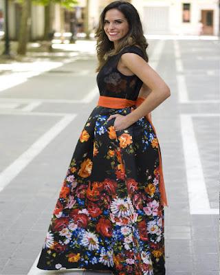 Vestidos largos con ESTAMPADOS elegantes que estan de moda