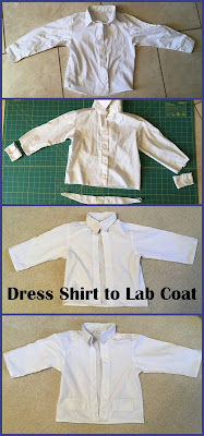 Dress shirt to doctor's coat
