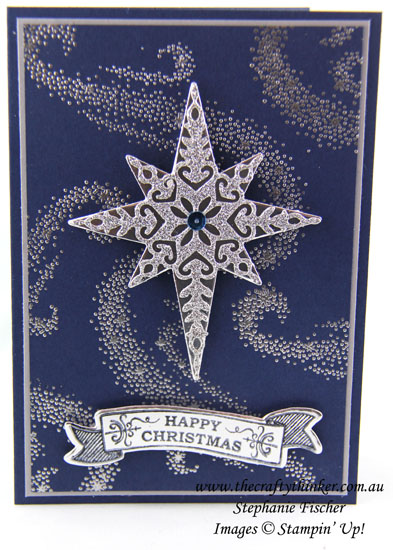 #thecraftythinker, Star of Light Bundle, Christmas Card, Xmas, Seasonal Bells, Stampin Up Australia Distributor, Stephanie Fischer, Sydney NSW