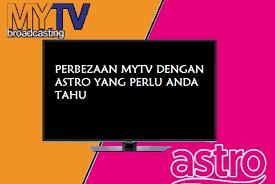 Beza Siaran MYTV dan ASTRO