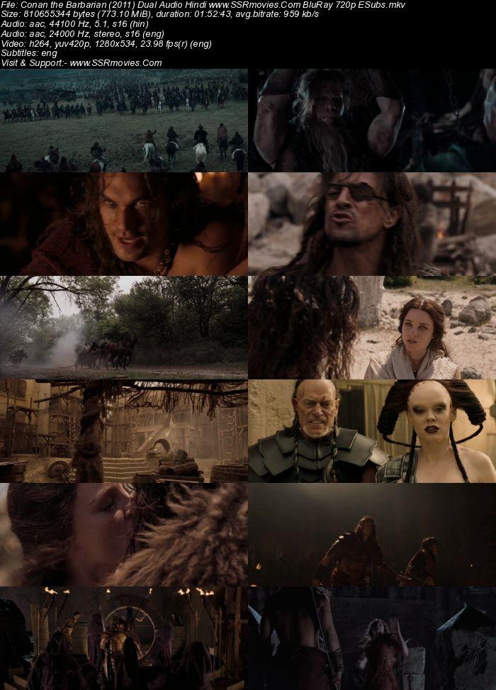 Conan the Barbarian (2011) Dual Audio Hindi 720p BluRay 750MB ESubs Movie Download