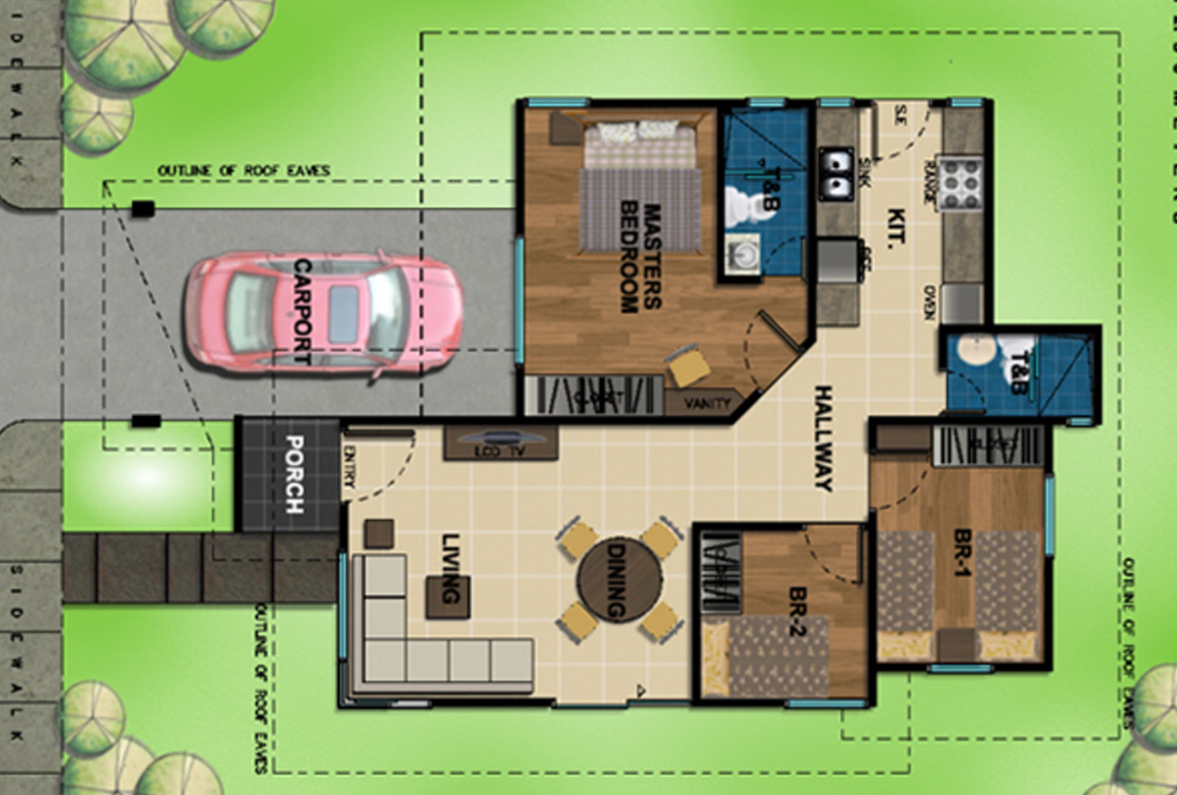 25 Small, Simple and Beautiful House Design With Blueprint