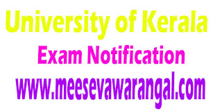 University of Kerala M.Sc Genetics / Plant Breeding (CSS) IVth Sem Sep 2016 Notification