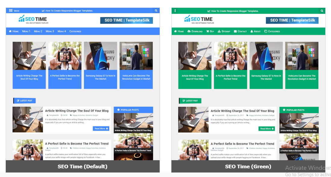 Best Free Blogger Templates Responsive SEO Friendly | Free Templates ...