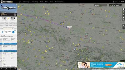 Boeing 787 Dreamliner, PLL LOT, Flightradar24