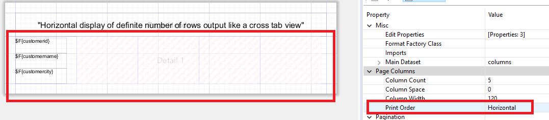 Tip : Horizontal(looks like vertical) display of detailed