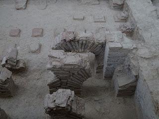 Hypocaustum con arcos de ladrillos. Villa de la Tejada