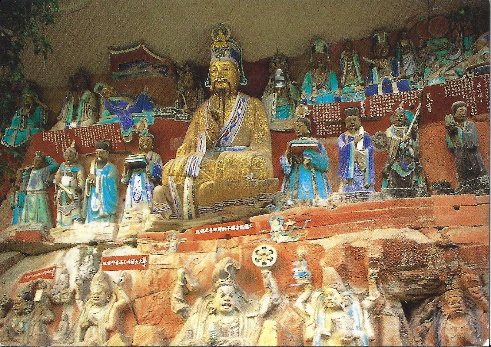 A journey of postcards dazu rock carvings china
