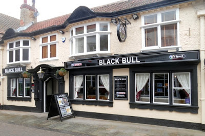 The Black Bull pub in Brigg town centre  - April 2019