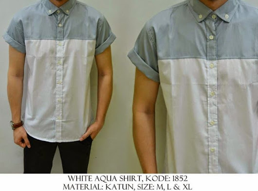 WHITE AQUA SHIRT KODE : 1852 IDR 90.000 | Welcome