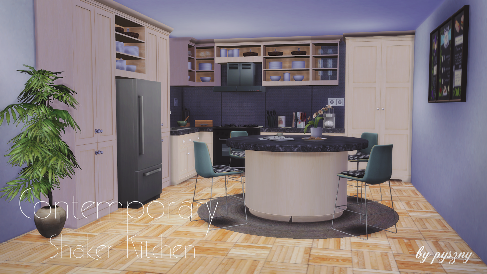 Sims Kitchen My Sims 4 Blog Contemporary Shaker Kitchen Set By Pyszny