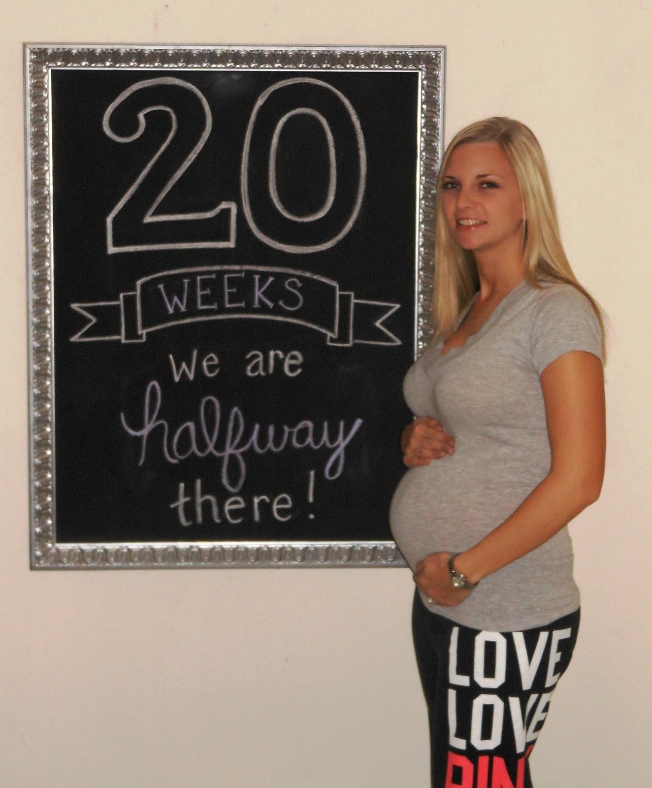 Being Mrs. Riley: Pregnancy: 20 Weeks... Halfway There