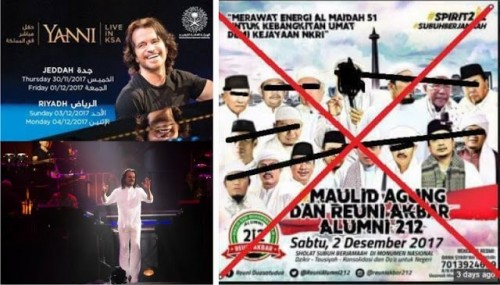 Milad 212 Dimusuhi dan Dibilang Bid'ah, Tapi Mingkem Soal Konser Yani di Saudi