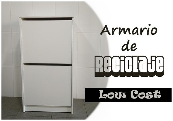 La neurona del manitas armario de reciclaje low cost con - Zapatero interior armario ikea ...