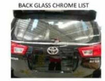 back glass chrome list innova luxury