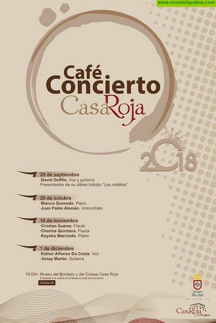 Programa Café Concierto septiembre- diciembre 2018, en el Museo Casa Roja en Villa de Mazo.