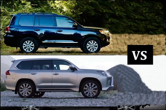 2016 Toyota LandCruiser vs 2016 Lexus LX570 ngoai that -  - Toyota Land Cruiser và Lexus LX570 2016 thế hệ mới : Chọn bền bỉ hay thương hiệu
