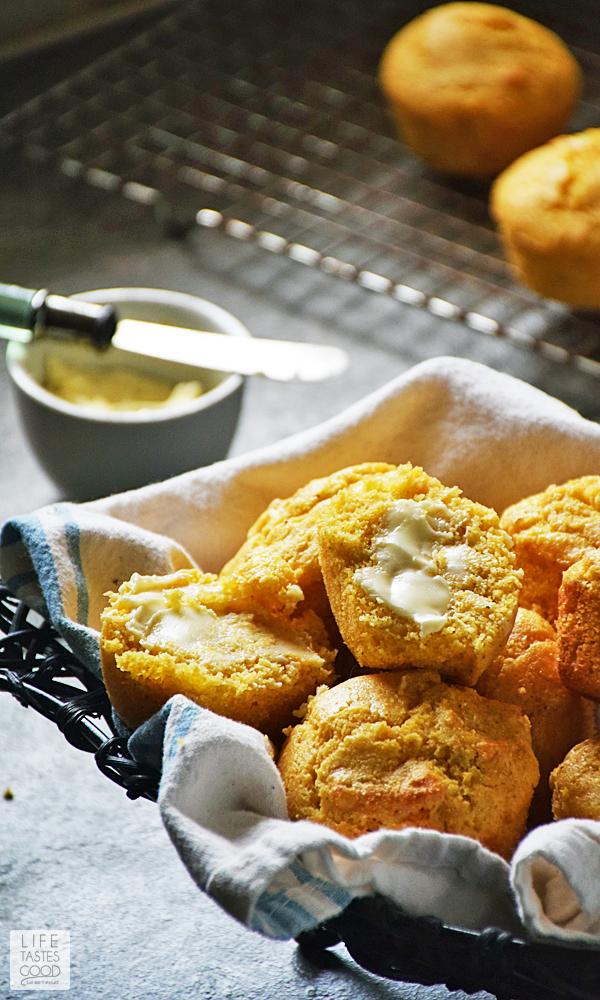 Buttered cornbread muffins