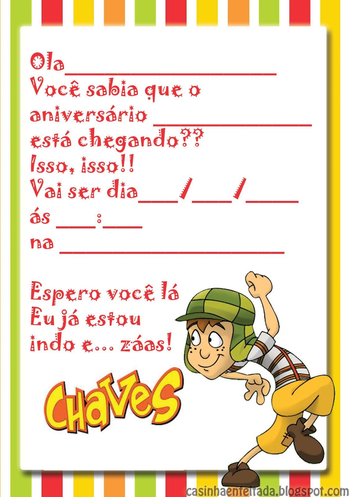 Casinha De Crianca Kit Festa Do Chaves Para Imprimir