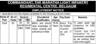 mlirc belgaum recruitment | Maratha Light Infantry Recruitment 2017- (Army) 10th Pass Vacancy