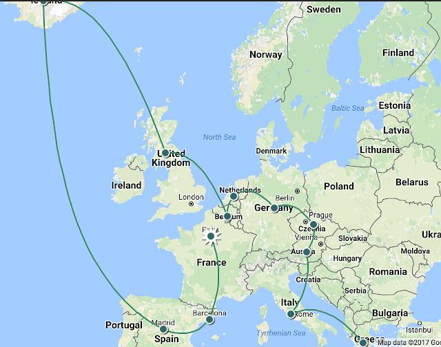 用14K 玩转欧洲11个国家45天!欧洲法国、西班牙、冰岛、英国、比利时、荷兰、德国、意大利、希腊、奥地利、捷克 !