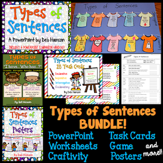 Are you teaching students to identify the four types of sentences? Check out this bundle full of resources. It contains multiple activities that you can use in your upper elementary classroom!