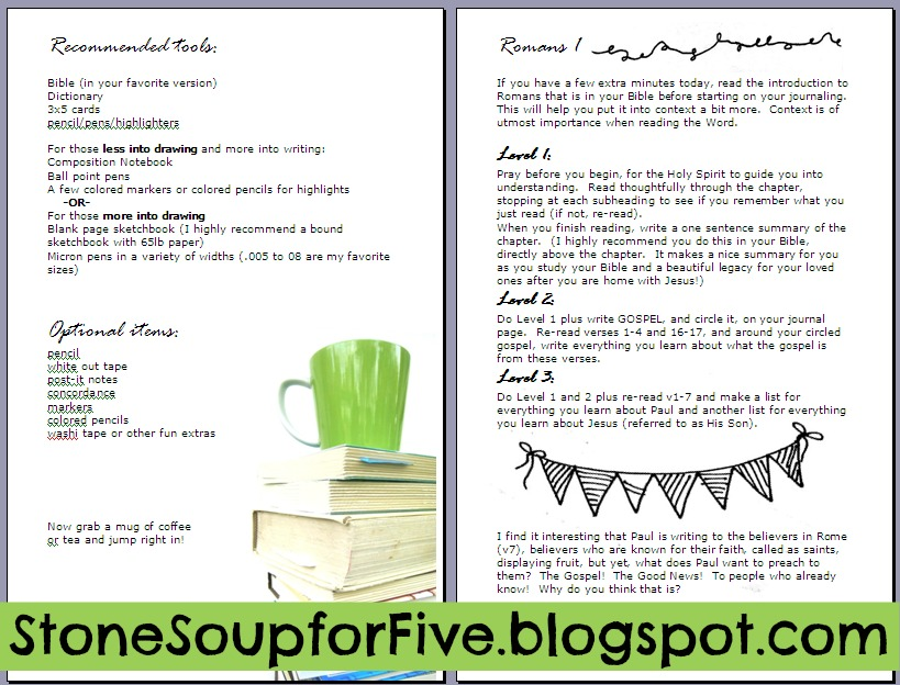 Stone Soup for Five: Bible Study Journal eBook and sneak
