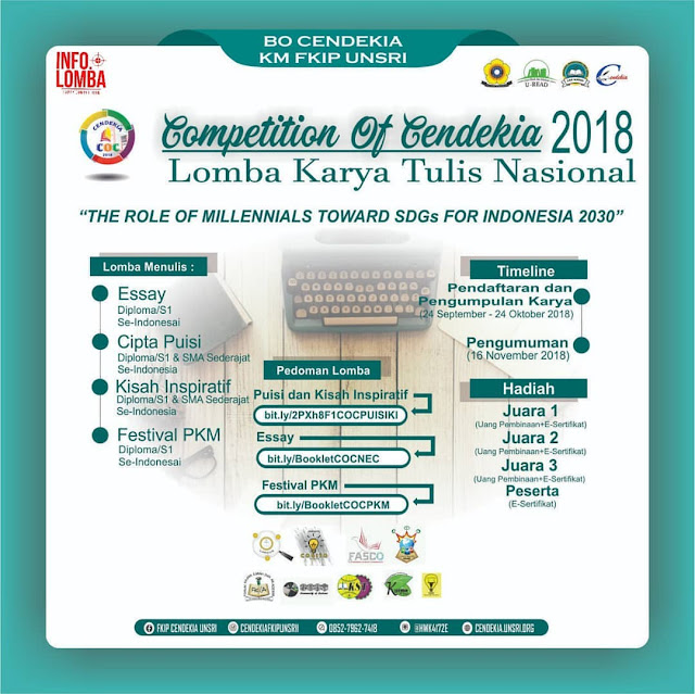 Contest Competition of Cendekia LKTIN 2018 Unsri