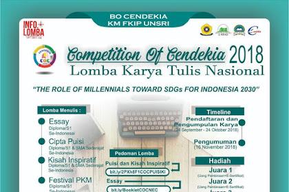 Contest Competition of Cendekia LKTN 2018 Unsri