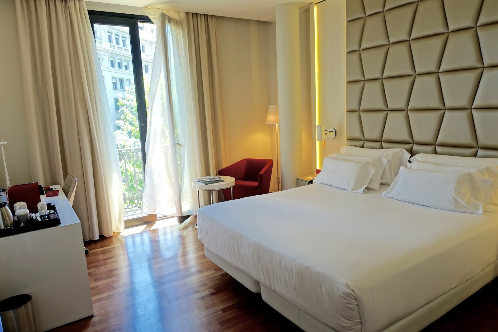 premium room with balcony overlooking barcelona streets