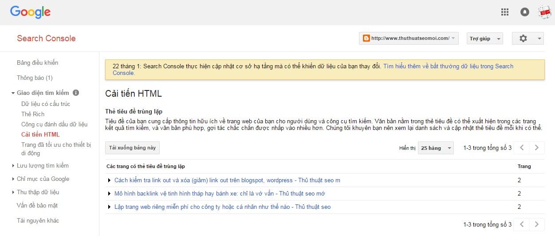Cách khắc phục blogspot (blogger) bị trùng lặp thẻ tiêu đề, thẻ mô tả