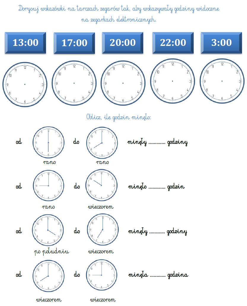 Blog Edukacyjny Dla Dzieci Zegar Zadania