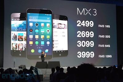 ponsel china, android, smartphone, ponsel, Meizu, Meizu MX3, Exynos 5 Octa