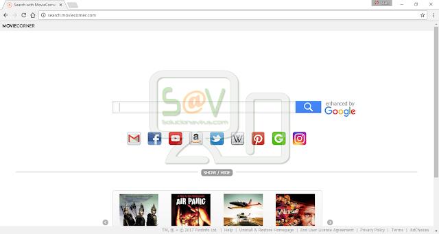 Search.MovieCorner.com (Hijacker)
