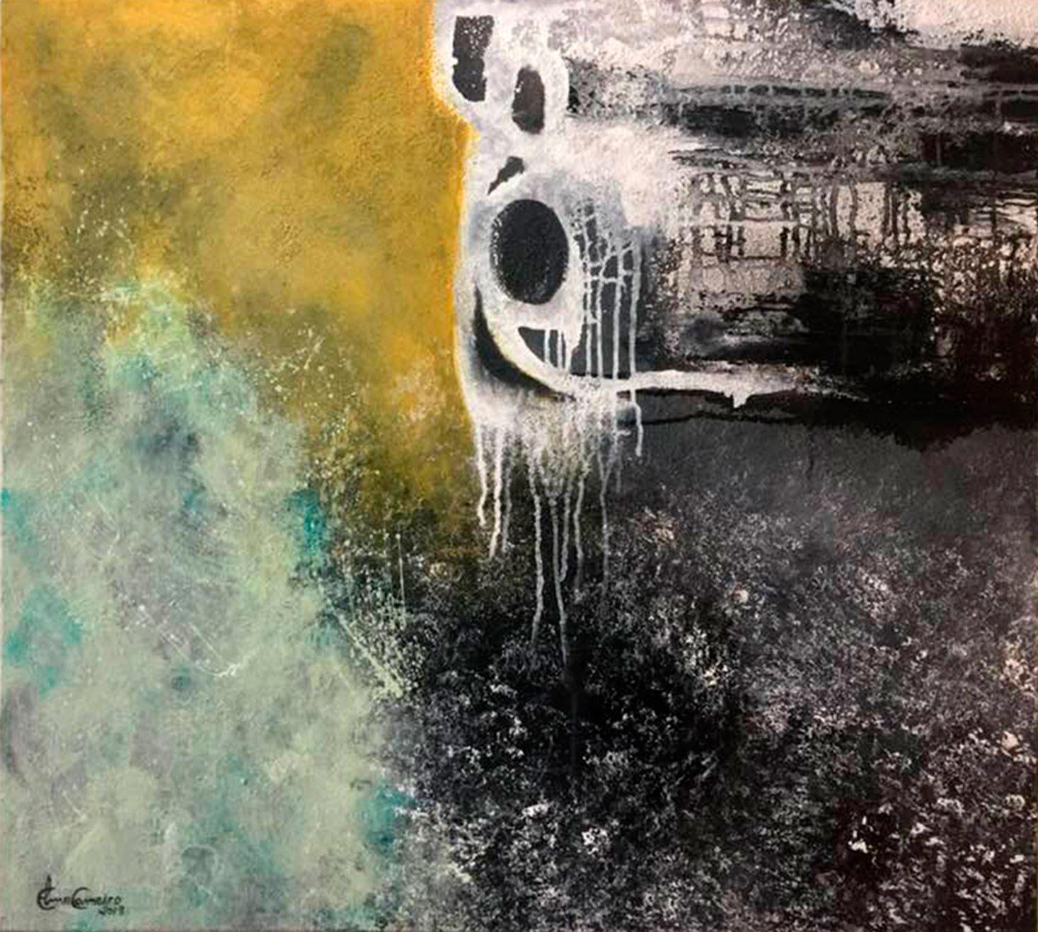 Arte abstrata de Elma Carneiro-GO