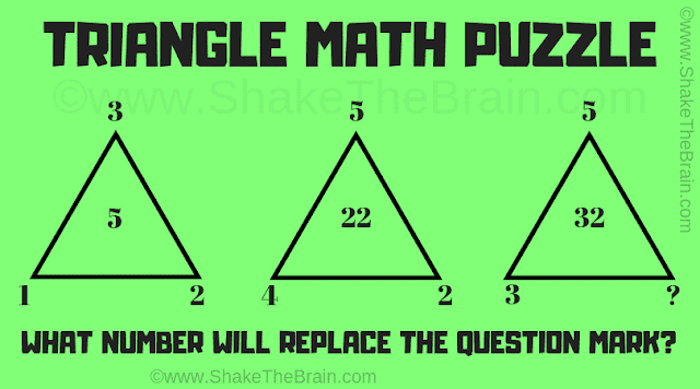 In this Missing Number Mind Teaser, your challenge is to find the missing number which replaces the question mark