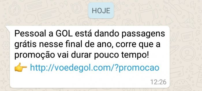 Novo golpe no Whatsapp