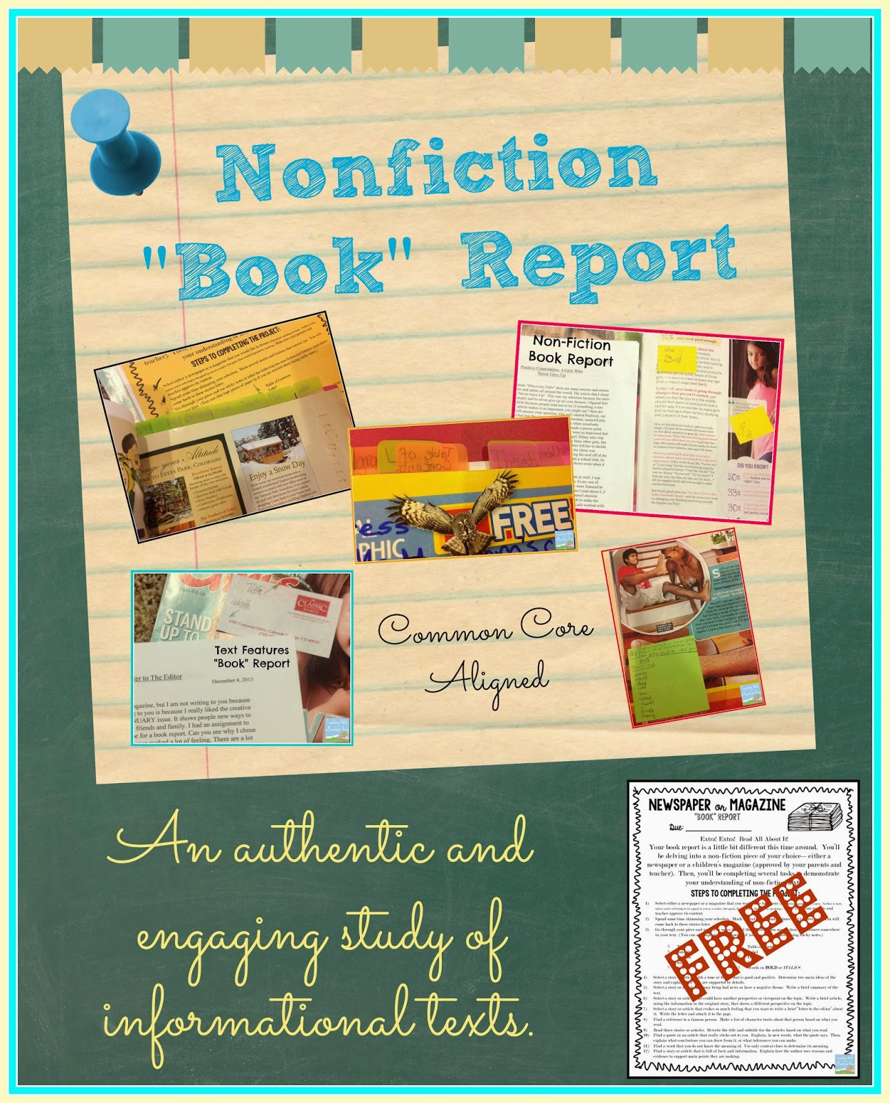 3rd Grade Nonfiction Book Report Template