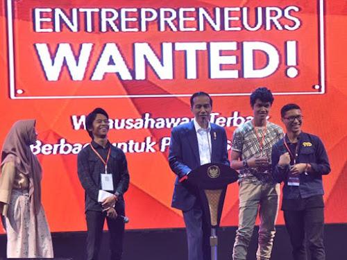 Jokowi di Entrepreneurs Day di Sabuga Bandung