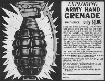 Exploding Hand Grenade