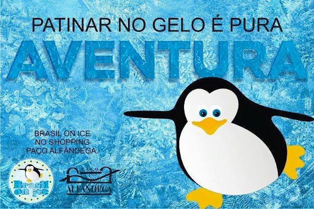Patinação no gelo Brasil On Ice no Paço Alfândega