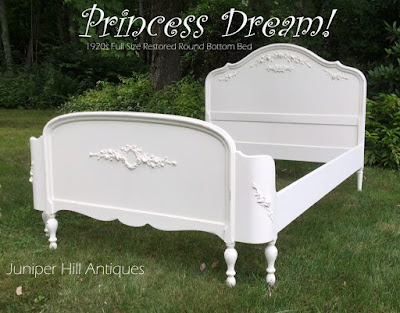 Painted Cottage shabby chic bed white
