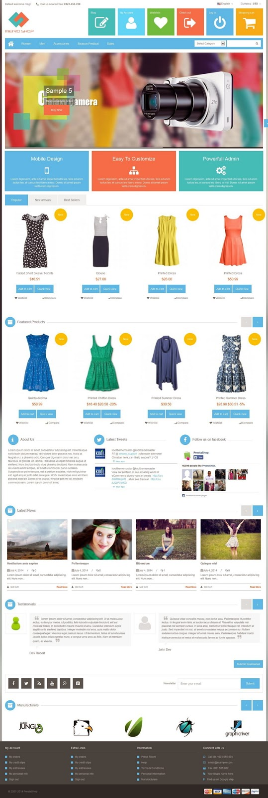 Prestashop themeforest