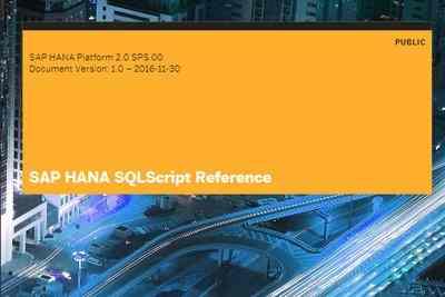 Qué es SQLScript - Consultoria-SAP