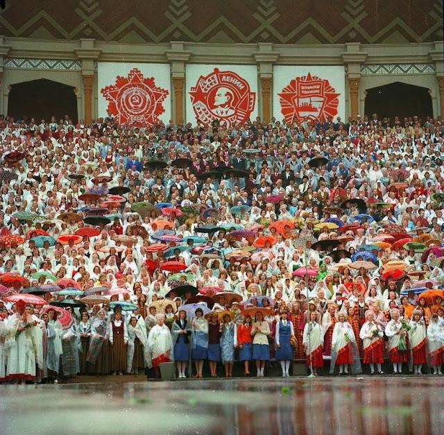 1980-е годы. Рига. Межапарк. Большая эстрада. Праздник студенческой песни (Источник фото: F64)